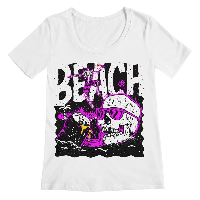 Beach Women's Regular Scoop Neck by controlx's Artist Shop
