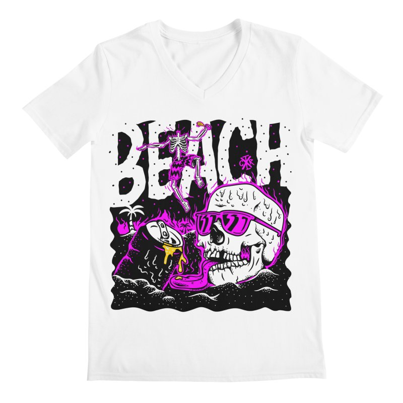 Beach Men's Regular V-Neck by controlx's Artist Shop