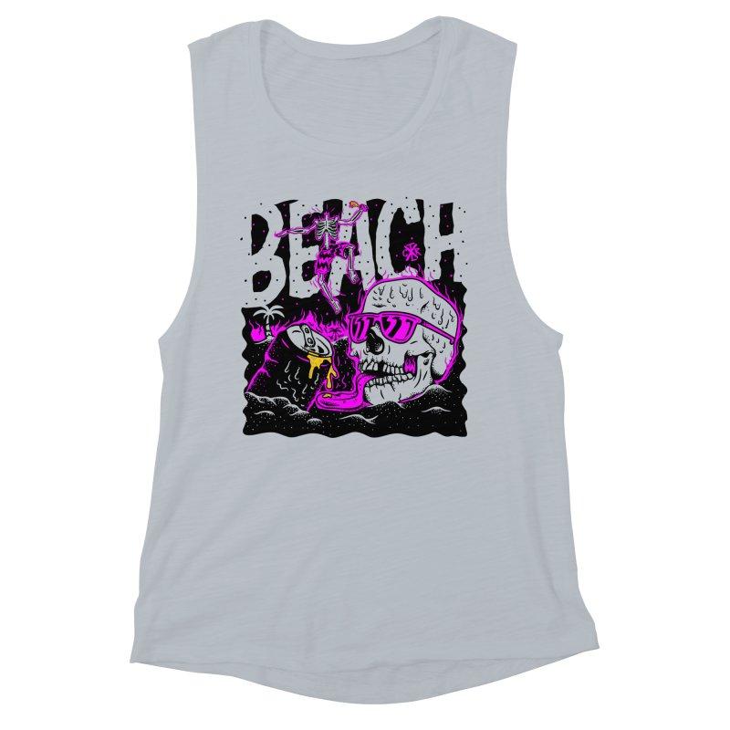 Beach Women's Muscle Tank by controlx's Artist Shop