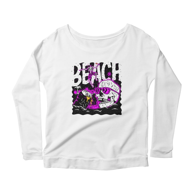 Beach Women's Scoop Neck Longsleeve T-Shirt by controlx's Artist Shop