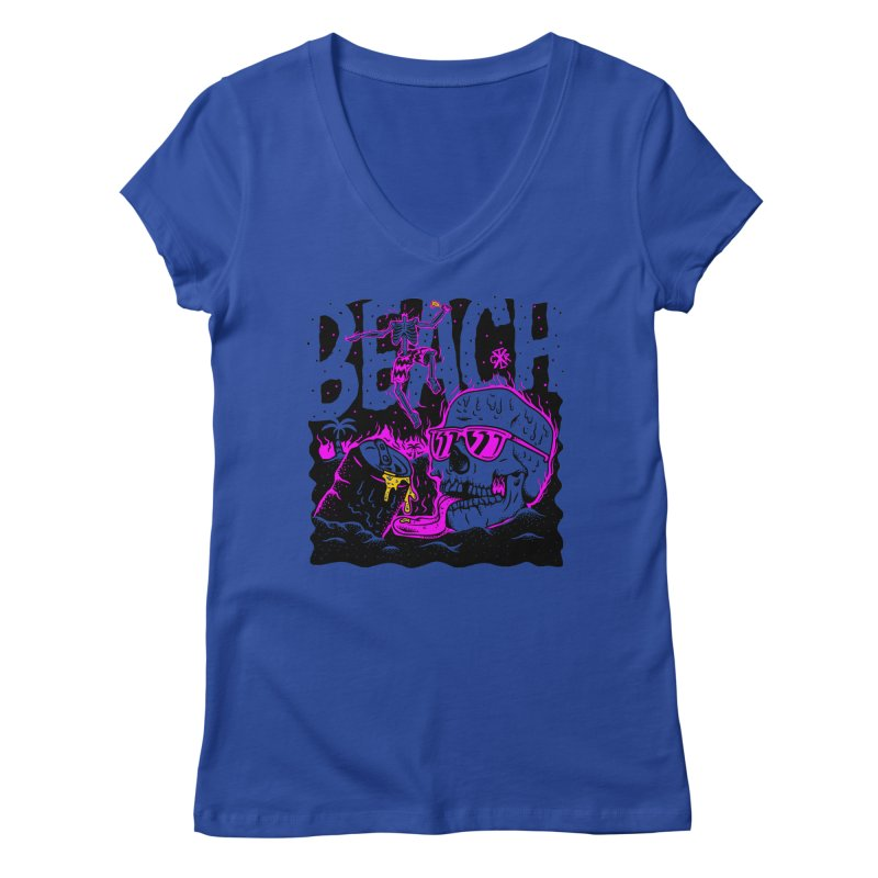 Beach Women's Regular V-Neck by controlx's Artist Shop