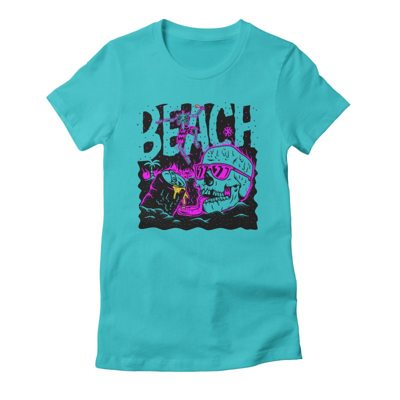 Beach Women's Fitted T-Shirt by controlx's Artist Shop