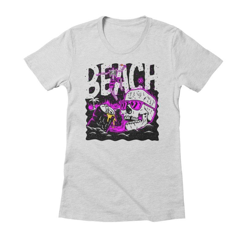 Beach Women's Fitted T-Shirt by controlx's Artist Shop