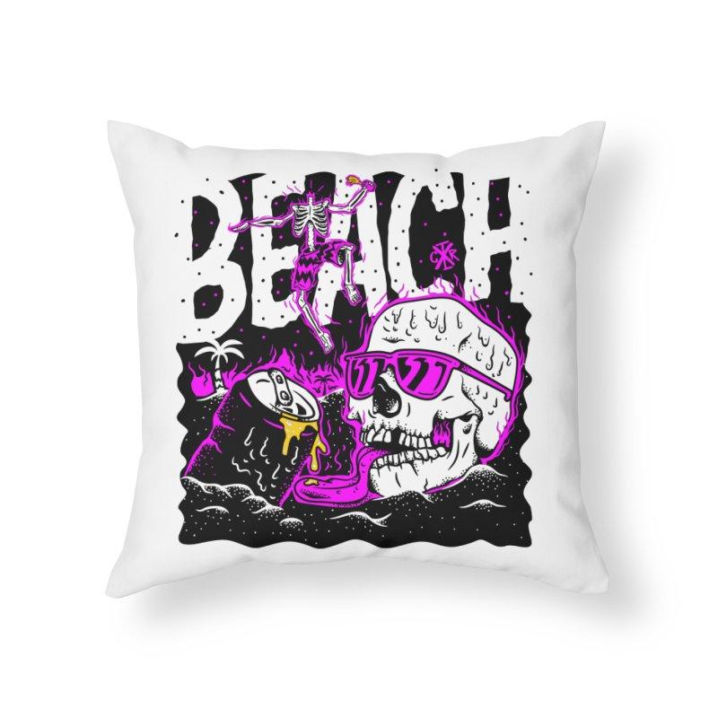 Beach Home Throw Pillow by controlx's Artist Shop