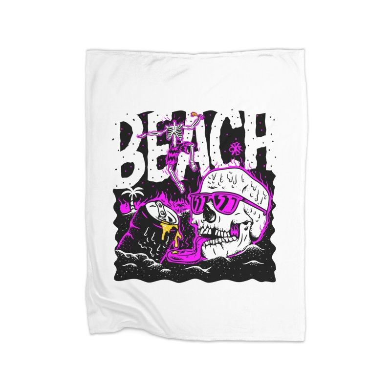 Beach Home Fleece Blanket Blanket by controlx's Artist Shop