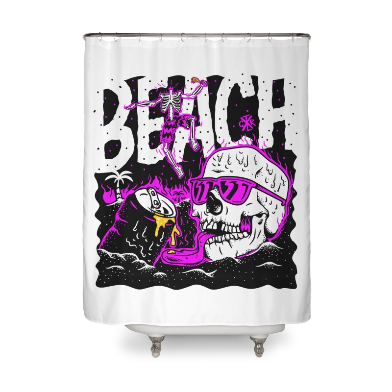 Beach Home Shower Curtain by controlx's Artist Shop
