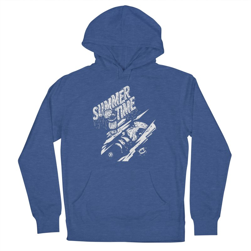 Summer Times Men's French Terry Pullover Hoody by controlx's Artist Shop