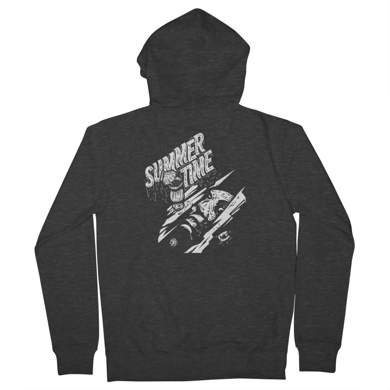 Summer Times Women's French Terry Zip-Up Hoody by controlx's Artist Shop