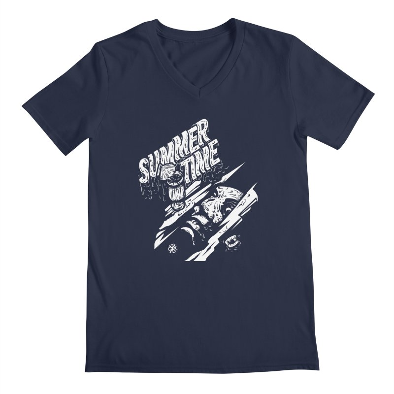 Summer Times Men's Regular V-Neck by controlx's Artist Shop