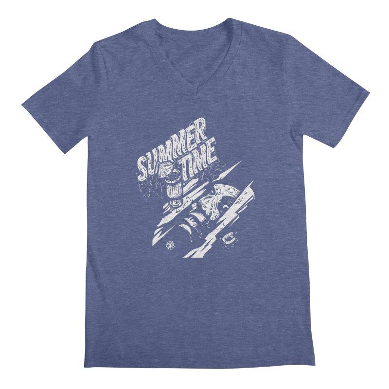 Summer Times Men's Regular V-Neck by controlx's Artist Shop