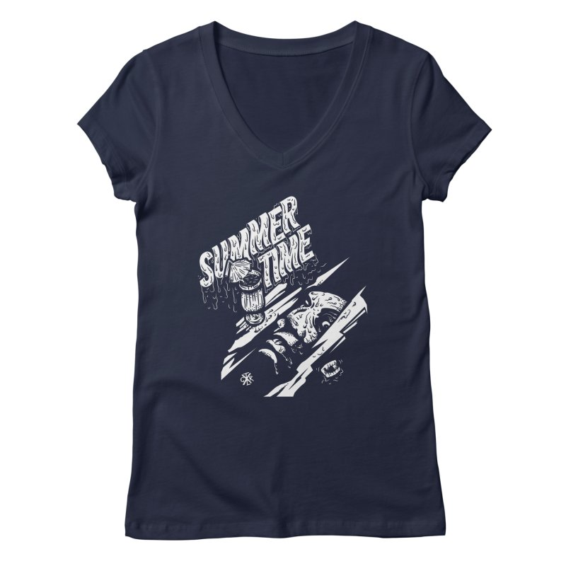 Summer Times Women's Regular V-Neck by controlx's Artist Shop