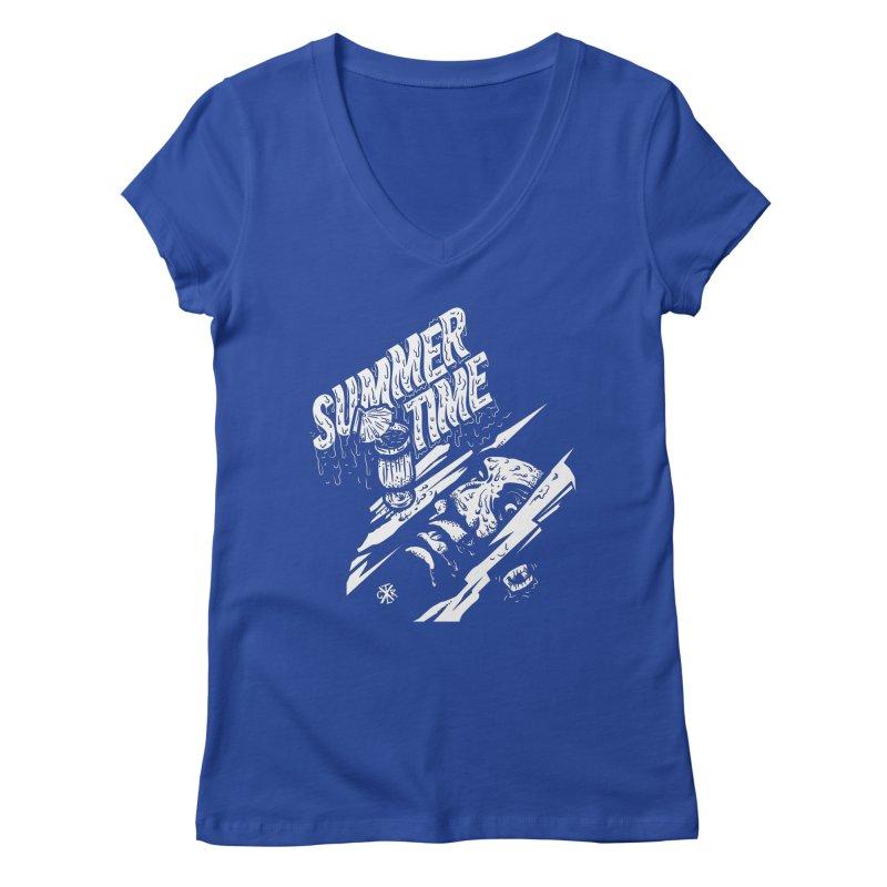 Summer Times Women's Regular V-Neck by controlx's Artist Shop