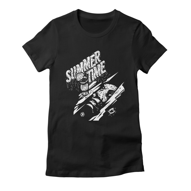Summer Times Women's Fitted T-Shirt by controlx's Artist Shop