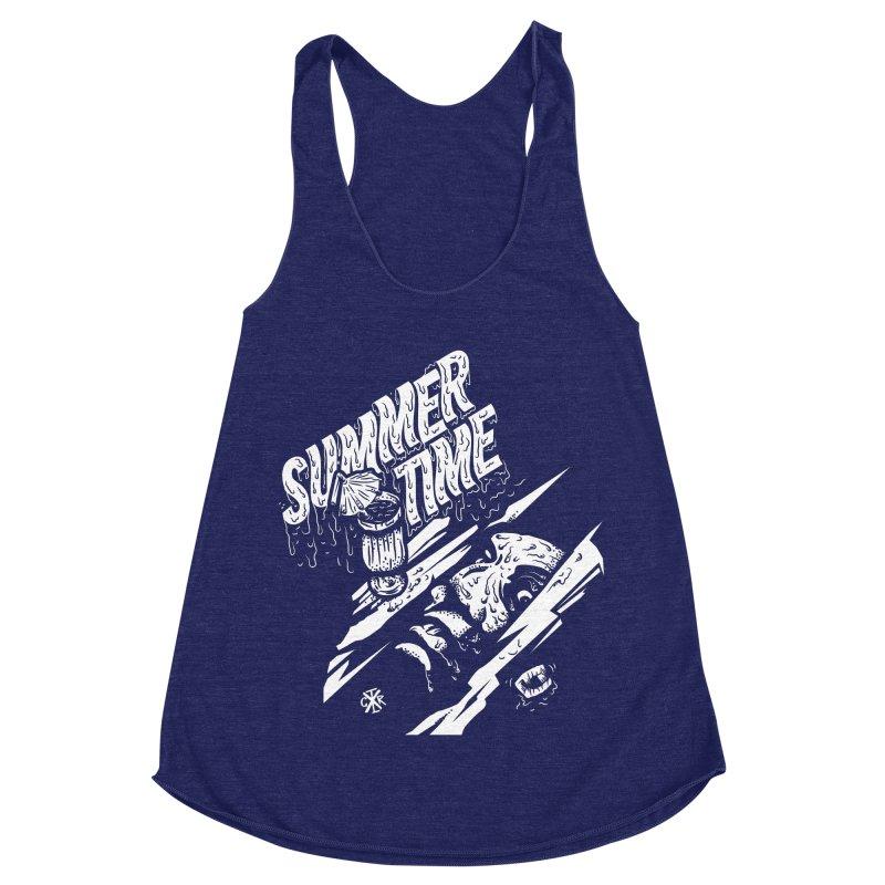 Summer Times Women's Racerback Triblend Tank by controlx's Artist Shop