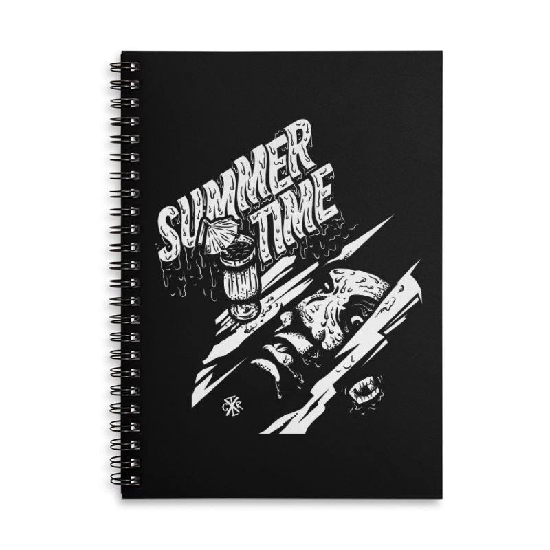 Summer Times Accessories Lined Spiral Notebook by controlx's Artist Shop