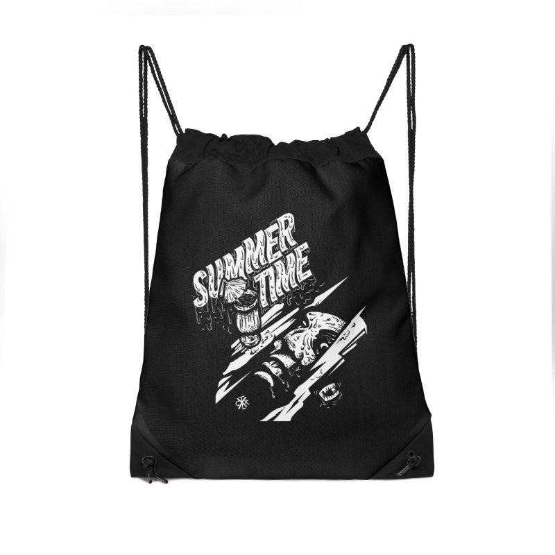 Summer Times Accessories Drawstring Bag Bag by controlx's Artist Shop