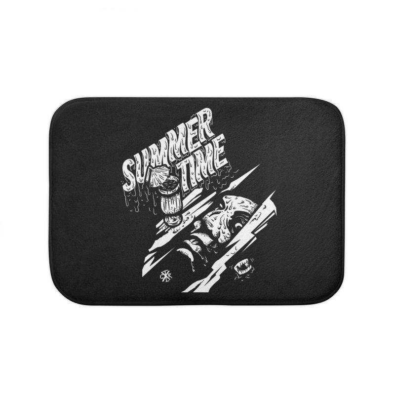 Summer Times Home Bath Mat by controlx's Artist Shop