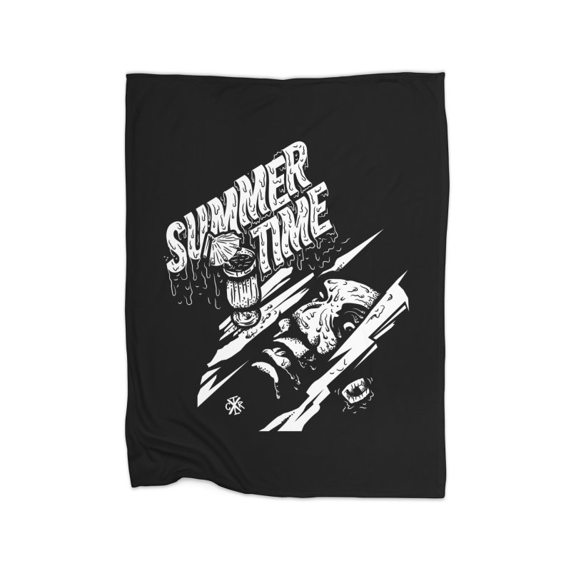 Summer Times Home Fleece Blanket Blanket by controlx's Artist Shop