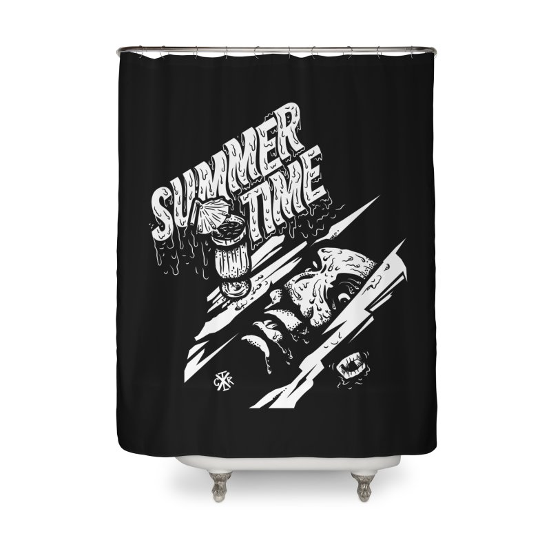 Summer Times Home Shower Curtain by controlx's Artist Shop