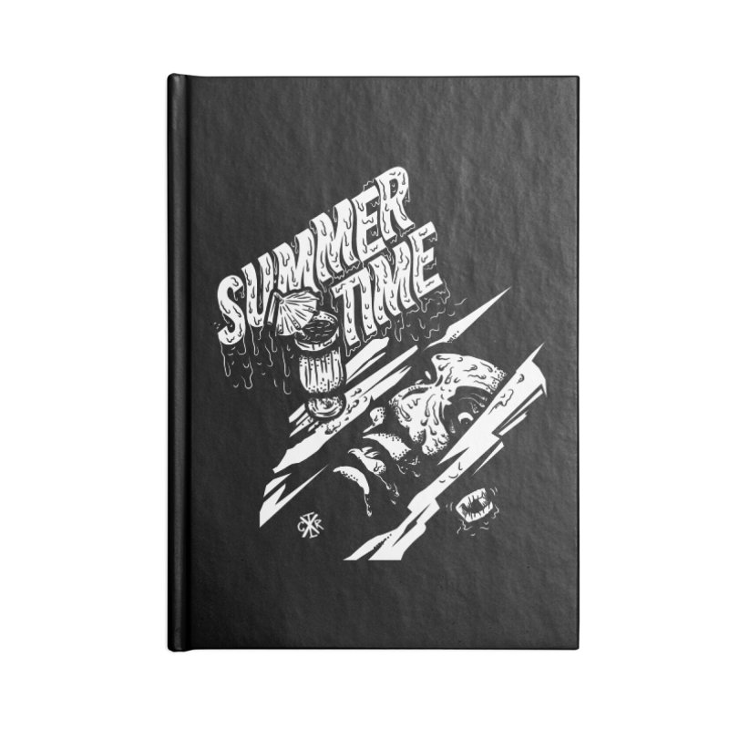 Summer Times Accessories Blank Journal Notebook by controlx's Artist Shop