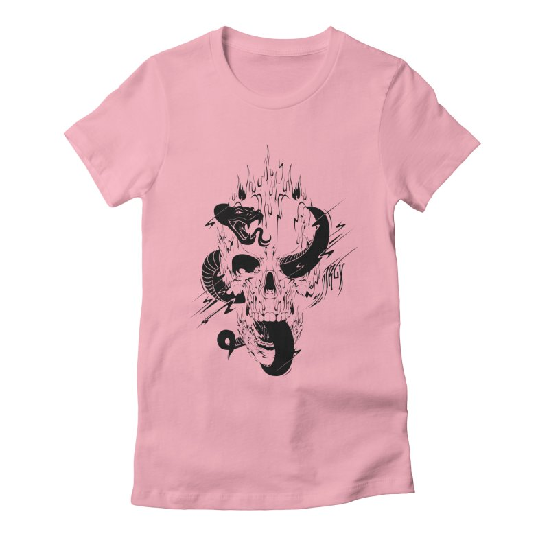 Skull Women's Fitted T-Shirt by controlx's Artist Shop