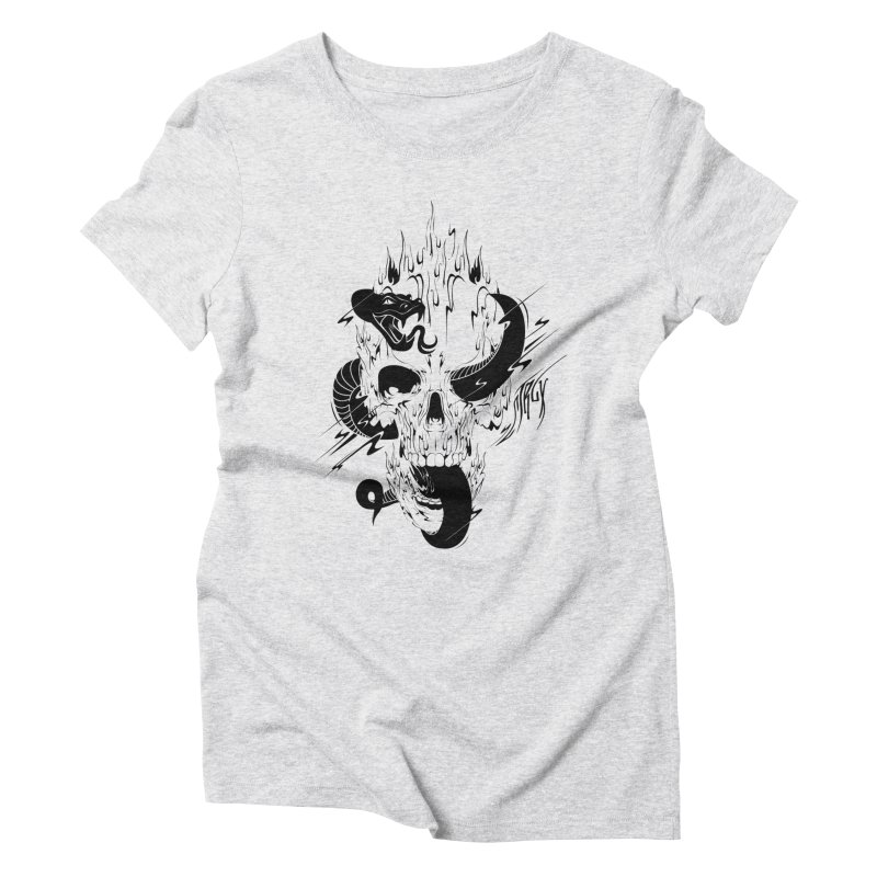 Skull Women's Triblend T-Shirt by controlx's Artist Shop