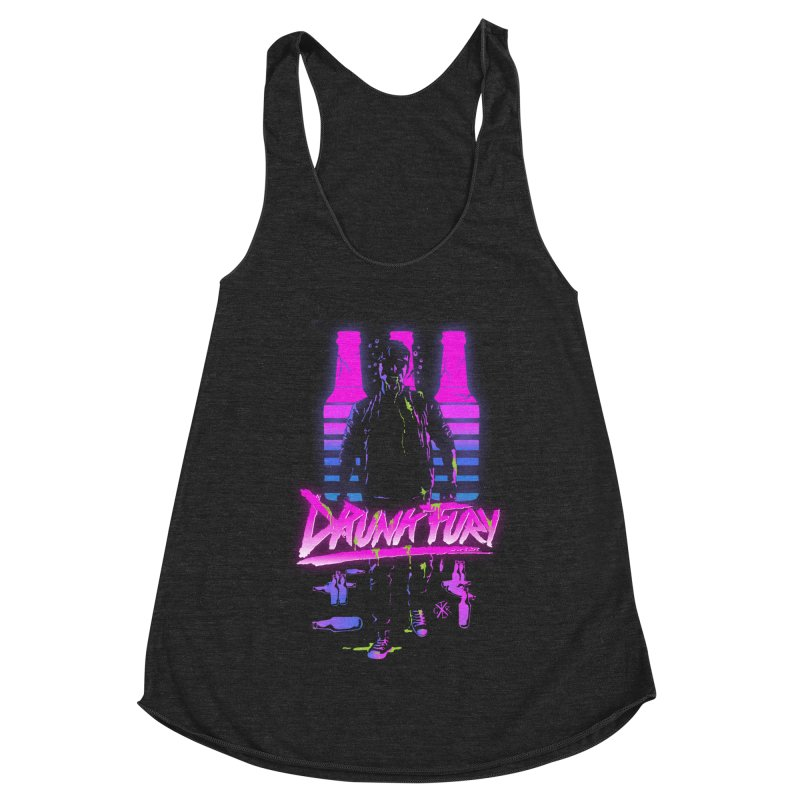 Drunk Fury Women's Racerback Triblend Tank by controlx's Artist Shop