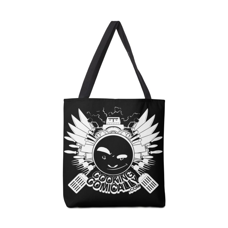 Classic Emblem in Tote Bag by Cooking Comically Stuff