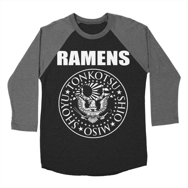 RAMENS Men's Baseball Triblend Longsleeve T-Shirt by Cooks and Casseroles