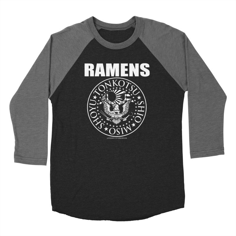 RAMENS Men's Baseball Triblend Longsleeve T-Shirt by RAMENS Shirts by Cooks and Casseroles