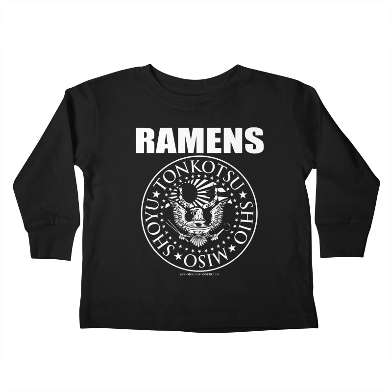 RAMENS Kids Toddler Longsleeve T-Shirt by RAMENS Shirts by Cooks and Casseroles