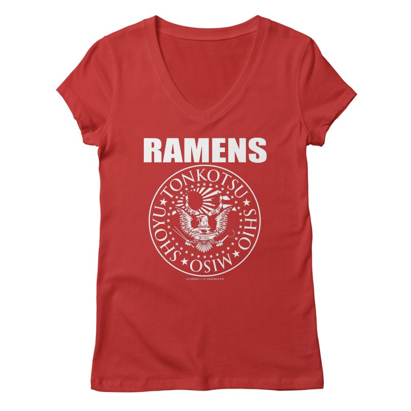 RAMENS Women's V-Neck by RAMENS Shirts by Cooks and Casseroles