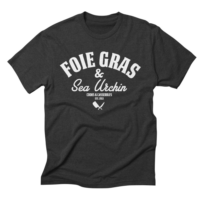 Foie Gras & Sea Urchin in Men's Triblend T-Shirt Heather Onyx by Cooks and Casseroles