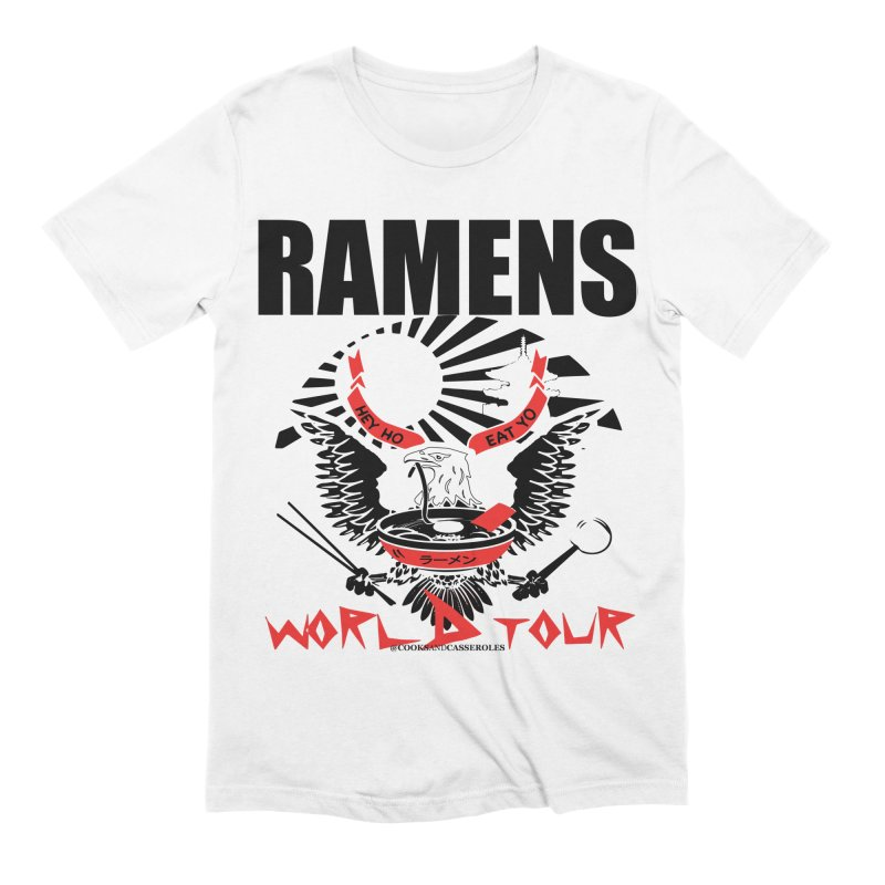 RAMENS WORLD TOUR Men's Extra Soft T-Shirt by RAMENS Shirts by Cooks and Casseroles