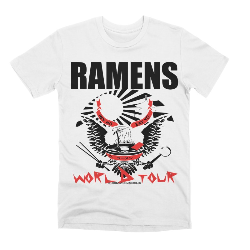 RAMENS WORLD TOUR Men's Premium T-Shirt by RAMENS Shirts by Cooks and Casseroles