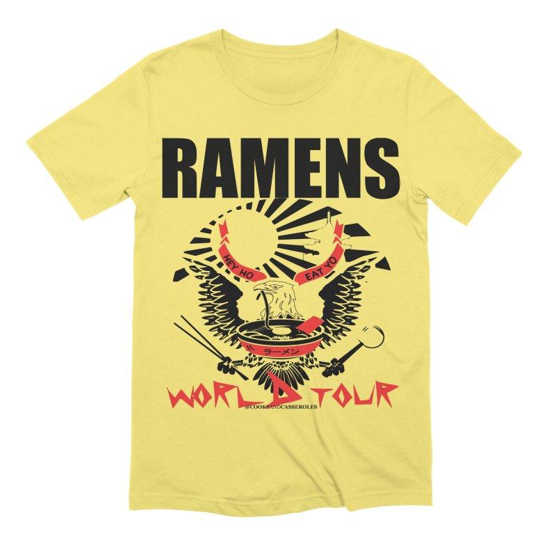 RAMENS WORLD TOUR Men's T-Shirt by RAMENS Shirts by Cooks and Casseroles