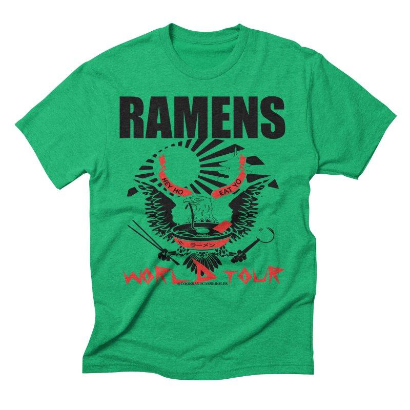 RAMENS WORLD TOUR Men's Triblend T-Shirt by RAMENS Shirts by Cooks and Casseroles
