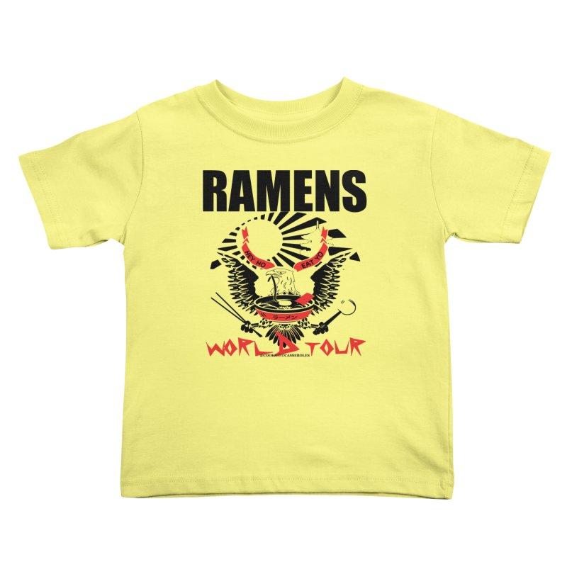 RAMENS WORLD TOUR Kids Toddler T-Shirt by RAMENS Shirts by Cooks and Casseroles