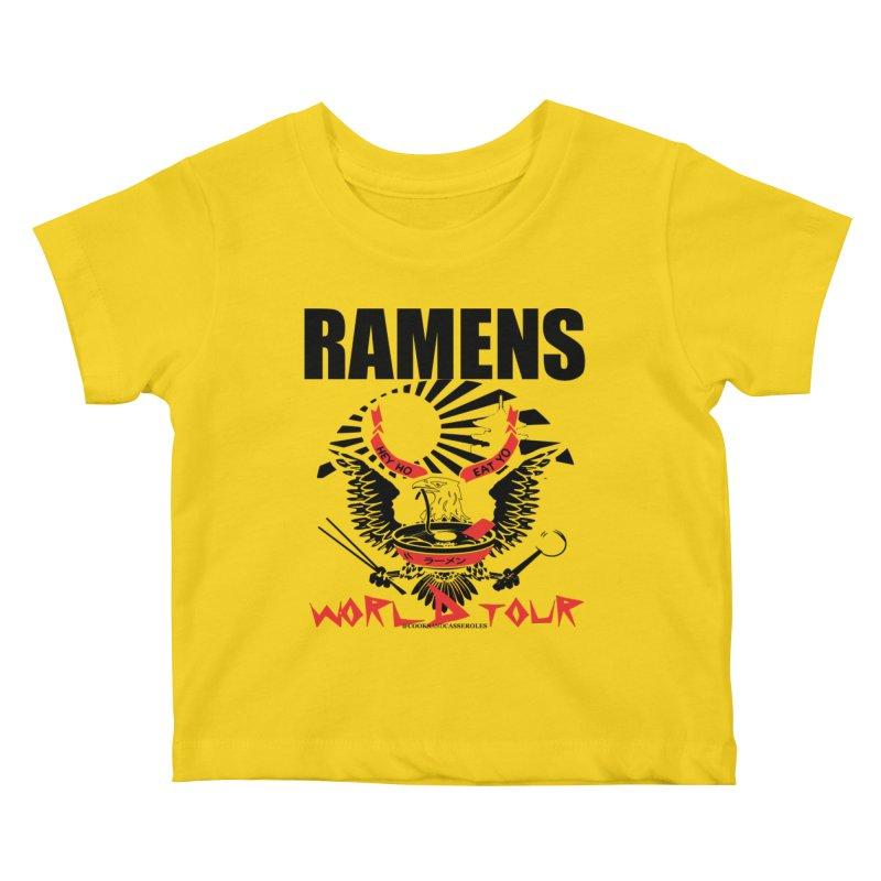 RAMENS WORLD TOUR Kids Baby T-Shirt by RAMENS Shirts by Cooks and Casseroles