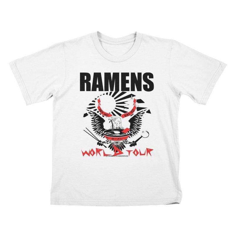 RAMENS WORLD TOUR Kids T-Shirt by RAMENS Shirts by Cooks and Casseroles