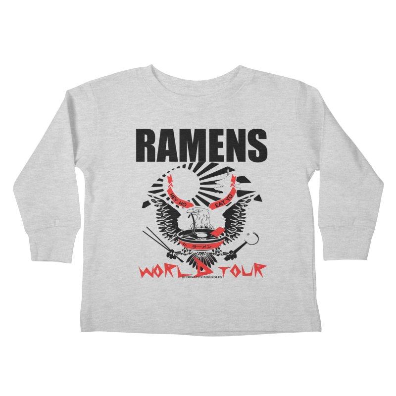 RAMENS WORLD TOUR Kids Toddler Longsleeve T-Shirt by RAMENS Shirts by Cooks and Casseroles