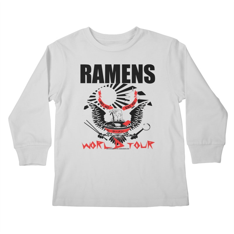 RAMENS WORLD TOUR Kids Longsleeve T-Shirt by RAMENS Shirts by Cooks and Casseroles