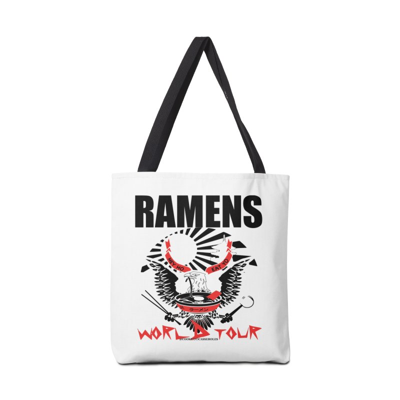 RAMENS WORLD TOUR Accessories Tote Bag Bag by RAMENS Shirts by Cooks and Casseroles