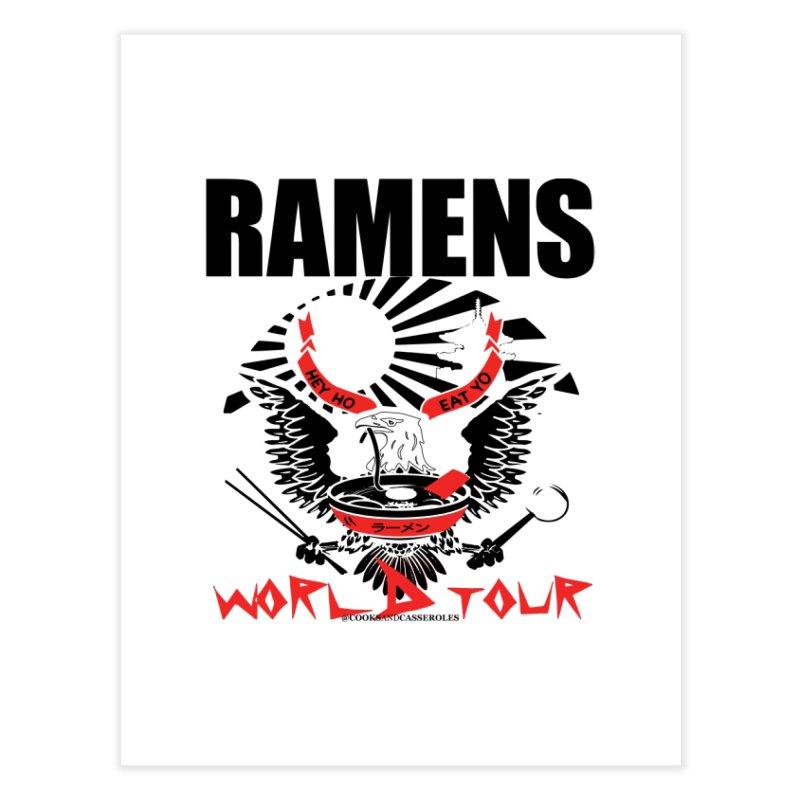 RAMENS WORLD TOUR Home Fine Art Print by RAMENS Shirts by Cooks and Casseroles