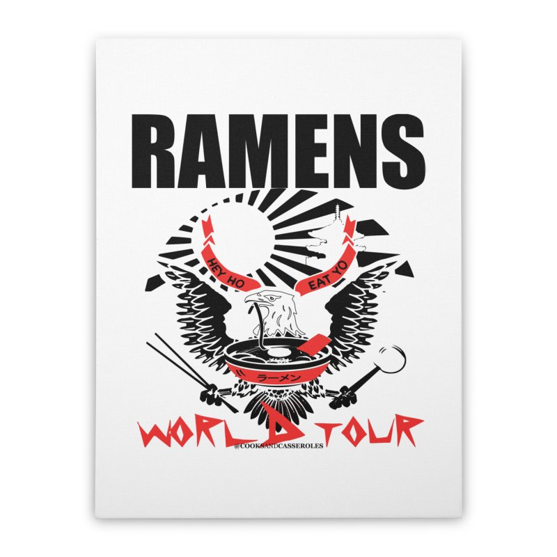 RAMENS WORLD TOUR Home Stretched Canvas by RAMENS Shirts by Cooks and Casseroles