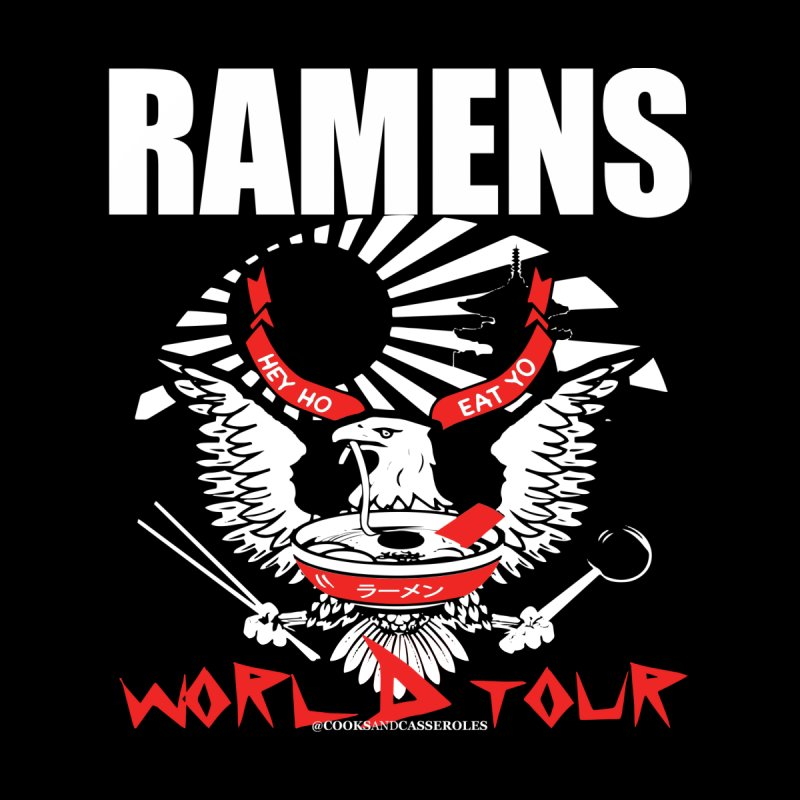 RAMENS WORLD TOUR (white) by RAMENS Shirts by Cooks and Casseroles