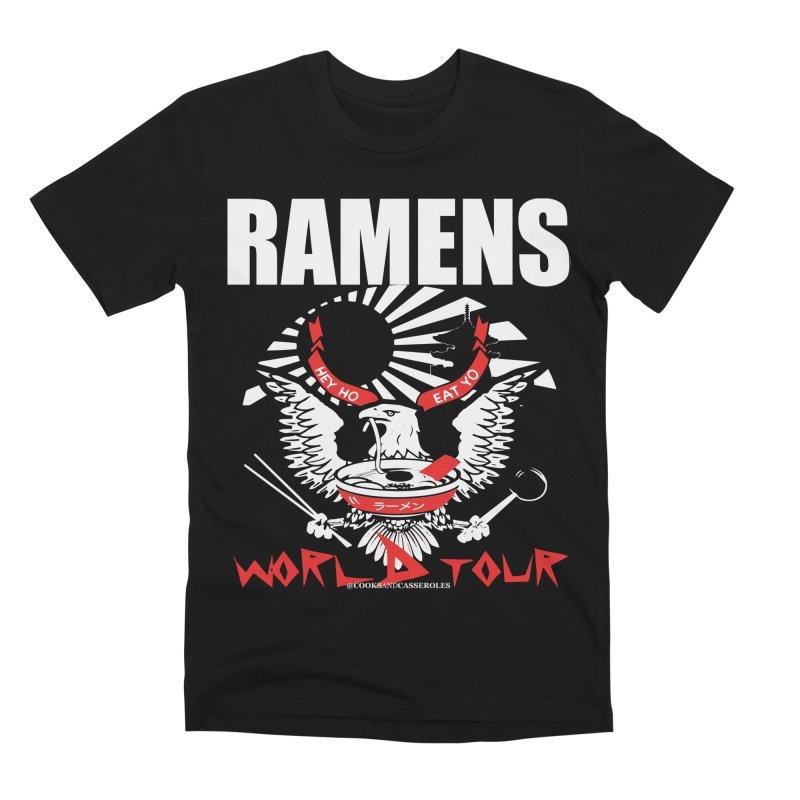 RAMENS WORLD TOUR (white) Men's Premium T-Shirt by RAMENS Shirts by Cooks and Casseroles
