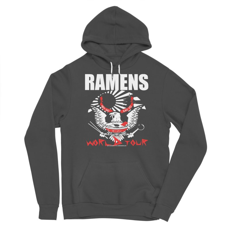 RAMENS WORLD TOUR (white) Men's Sponge Fleece Pullover Hoody by RAMENS Shirts by Cooks and Casseroles