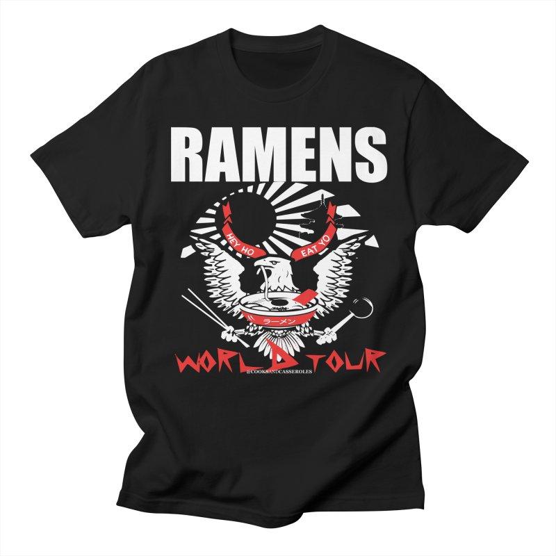RAMENS WORLD TOUR (white) Men's Regular T-Shirt by RAMENS Shirts by Cooks and Casseroles