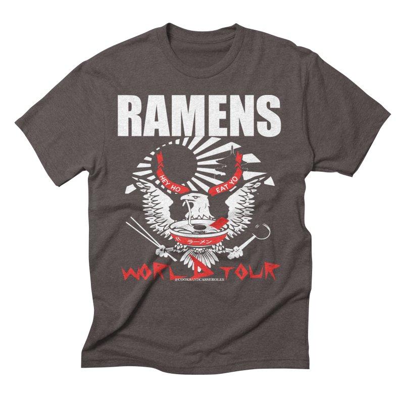 RAMENS WORLD TOUR (white) Men's Triblend T-Shirt by RAMENS Shirts by Cooks and Casseroles